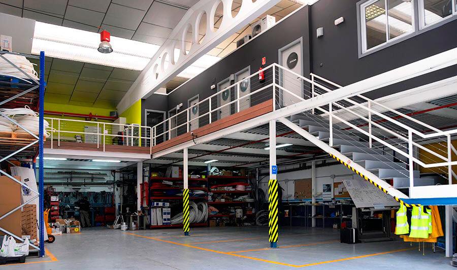 Interior pabellón Instalaciones Boro